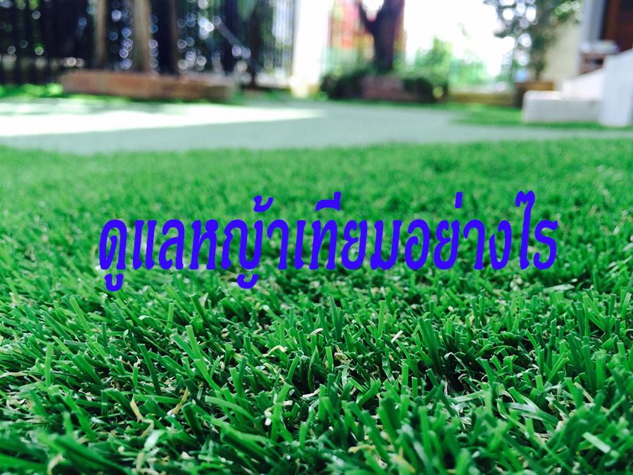ดูแลหญ้าเทียมอย่างไร